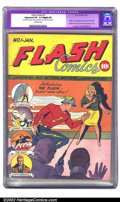 Golden Age (1938-1955):Superhero, Flash Comics #1 (DC, 1940) CGC Apparent VF- 7.5 Slight (P) Off-white pages. One of Overstreet's top ten most valuable Golden...