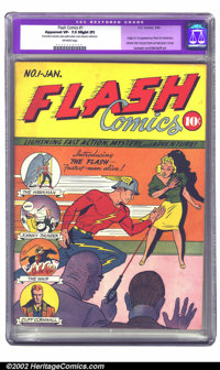 Flash Comics #1 (DC, 1940) CGC Apparent VF- 7.5 Slight (P) Off-white pages. One of Overstreet's top ten most valuable Go...