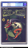 Golden Age (1938-1955):Superhero, Green Lantern #1 (DC, 1941) CGC VF/NM 9.0 Cream to off-white pages. Sporting one of the great DC covers of the Golden Age, r...