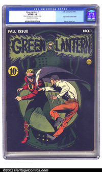 Green Lantern #1 (DC, 1941) CGC VF/NM 9.0 Cream to off-white pages. Sporting one of the great DC covers of the Golden Ag...