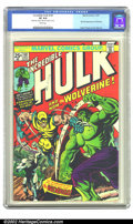 Bronze Age (1970-1979):Superhero, The Incredible Hulk #181 (Marvel, 1974) CGC VF 8.0 White pages. Theultimate book of the 1970s features the first full appea...