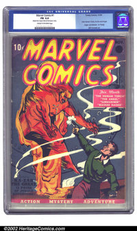Marvel Comics #1 (Timely, 1939) CGC FN 6.0 Cream to off-white pages. Publisher Martin Goodman took a gamble when he publ...