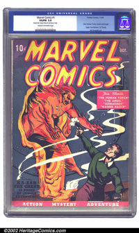 Marvel Comics #1 (Timely, 1939) CGC VG/FN 5.0 Cream to off-white pages. Marvel #1's first print run was a sellout, promp...