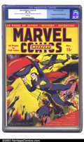 Golden Age (1938-1955):Superhero, Marvel Mystery Comics #2 (Timely, 1939) CGC VF- 7.5 White pages. After the success of Marvel #1, Goodman kicked off the ...