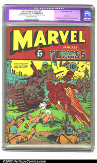 Marvel Mystery Comics #27 (Timely, 1942) CGC Apparent VF- 7.5 Slight (P) Cream to off-white pages. Just as Toro is about...