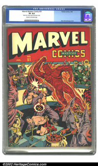 Marvel Mystery Comics #51 (Timely, 1944) CGC VF 8.0 Cream to off-white pages. Moments before Toro is to be branded with...
