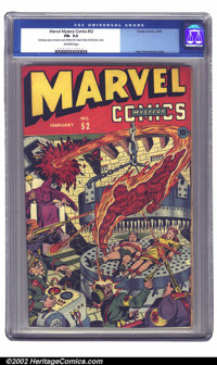 Marvel Mystery Comics #52 (Timely, 1944) CGC FN- 5.5 Off-white pages. An unmistakable Alex Schomburg cover featuring all...