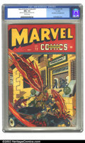 """Golden Age (1938-1955):Superhero, Marvel Mystery Comics #72 """"D"""" pedigree (Timely, 1946) CGC NM+ 9.6 Off-white pages. Exhibiting deep glossy reds and a clean w..."""