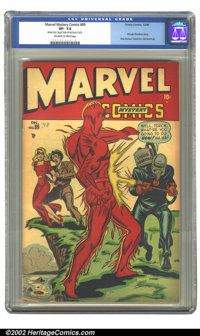 Marvel Mystery Comics #89 (Timely, 1948) CGC VF- 7.5 Off-white to white pages. Here we see Torch facing off against a ba...