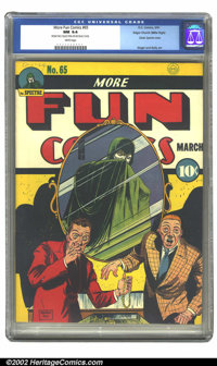 More Fun Comics #65 Mile High pedigree (DC, 1941) CGC NM 9.4 White pages. Of the many amazing books offered in Heritage'...