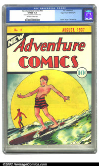 New Adventure Comics #18 Mile High pedigree (DC, 1937) CGC VF/NM 9.0 Off-white to white pages. Creig Flessel delivers an...