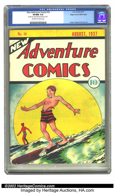 New Adventure Comics #18 Mile High pedigree (DC, 1937) CGC VF/NM 9.0 Off-white to white pages. Creig Flessel delivers anothe...