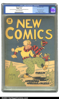 New Comics #1 (DC, 1935) CGC FN/VF 7.0 Cream to off-white pages. After the success of its inaugural title New Fun, DC de...