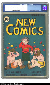 New Comics #9 (DC, 1936) CGC FN/VF 7.0 Cream to off-white pages. The early stages of evolution of DC's logo style can be...