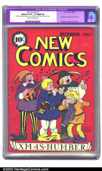 New Comics #11 (DC, 1936) CGC Apparent VF- 7.5 Slight (P) Cream to off-white pages. Here's one for Christmas cover colle...
