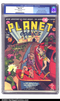 Planet Comics #1 (Fiction House, 1940) CGC NM 9.4 Off-white pages. Presenting the introductory issue of the pre-eminent...
