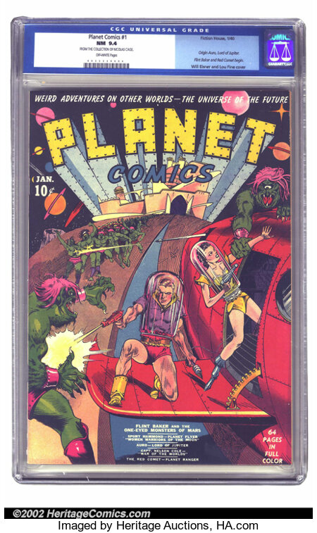 Planet Comics #1 (Fiction House, 1940) CGC NM 9.4 Off-white pages. Presenting the introductory issue of the pre-eminent scie...