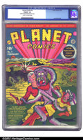 Golden Age (1938-1955):Science Fiction, Planet Comics #2 (Fiction House, 1940) CGC FN/VF 7.0 Cream tooff-white pages. Scarce in any grade, this issue of Planet C...