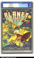 Golden Age (1938-1955):Science Fiction, Planet Comics #6 (Fiction House, 1940) CGC FN+ 6.5 Cream tooff-white pages. War rages on this fantastic Powell cover, compl...