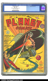 Planet Comics #7 (Fiction House, 1940) CGC VF- 7.5 Cream to off-white pages. Another great Powell cover, featuring the R...