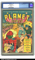 Golden Age (1938-1955):Science Fiction, Planet Comics #8 (Fiction House, 1940) CGC VF- 7.5 Off-white pages.The battle is about to begin on this Sultan cover, as Fl...