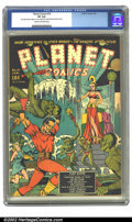 Golden Age (1938-1955):Science Fiction, Planet Comics #10 (Fiction House, 1941) CGC VF 8.0 Cream tooff-white pages. Zolnerowich, the Fiction House workhorse, conce...