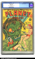 Golden Age (1938-1955):Science Fiction, Planet Comics #11 (Fiction House, 1941) CGC FN+ 6.5 Off-whitepages. Zolnerowich's next cover features the Red Comet blastin...