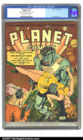 Golden Age (1938-1955):Science Fiction, Planet Comics #13 (Fiction House, 1941) CGC FN/VF 7.0 Cream tooff-white pages. Zolnerowich returns to his cover duties this...