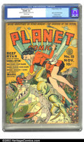 Golden Age (1938-1955):Science Fiction, Planet Comics #15 (Fiction House, 1941) CGC VG/FN 5.0 Off-whitepages. Reef Ryan has mere moments to save the fair maiden be...