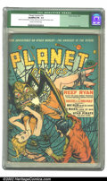 Golden Age (1938-1955):Science Fiction, Planet Comics #19 (Fiction House, 1942) CGC Qualified FN- 5.5 Creamto off-white pages. Zolnerowich strikes gold with this c...