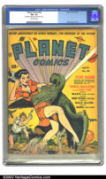 Golden Age (1938-1955):Science Fiction, Planet Comics #20 (Fiction House, 1942) CGC FN- 5.5 Off-whitepages. By this issue, the women were becoming more prominent o...