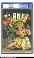 Golden Age (1938-1955):Science Fiction, Planet Comics #22 (Fiction House, 1943) CGC VF- 7.5 Cream tooff-white pages. One of the best Zolnerowich covers of the run,...
