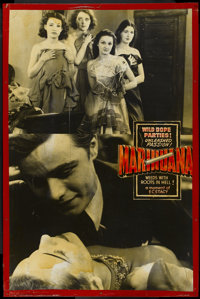 """Marihuana (Roadshow Attractions, 1936). Special Lobby Display (40"""" X 60""""). Cult Classic"""