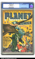 Golden Age (1938-1955):Science Fiction, Planet Comics #24 (Fiction House, 1943) CGC VF/NM 9.0 Cream tooff-white pages. Our hero Flint Baker is nowhere to be seen o...