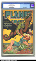Golden Age (1938-1955):Science Fiction, Planet Comics #29 (Fiction House, 1944) CGC FN+ 6.5 Off-whitepages. Out of the skies swoop the Dragon-Raiders of Aztla, sco...