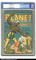 Golden Age (1938-1955):Science Fiction, Planet Comics #30 (Fiction House, 1944) CGC FN 6.0 Cream tooff-white pages. Hunt Bowman takes to the streets of post-apocal...