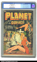 Golden Age (1938-1955):Science Fiction, Planet Comics #33 (Fiction House, 1944) CGC VF- 7.5 Cream tooff-white pages. A fantastic Renee cover featuring our hero and...