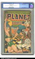 Golden Age (1938-1955):Science Fiction, Planet Comics #34 (Fiction House, 1945) CGC FN 6.0 Cream tooff-white pages. Hunt Bowman keeps the hordes at bay while his l...