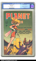 Golden Age (1938-1955):Science Fiction, Planet Comics #38 (Fiction House, 1945) CGC FN+ 6.5 Off-whitepages. Mysta of the Moon makes her debut this issue, facing of...