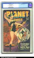 Golden Age (1938-1955):Science Fiction, Planet Comics #39 (Fiction House, 1945) CGC VG+ 4.5 Cream tooff-white pages. Mysta of the Moon tangles with the Death-Webs ...