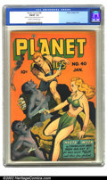 Golden Age (1938-1955):Science Fiction, Planet Comics #40 (Fiction House, 1946) CGC FN/VF 7.0 Cream tooff-white pages. Mysta of the Moon challenges the Chameleon M...