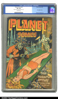 Golden Age (1938-1955):Science Fiction, Planet Comics #41 (Fiction House, 1946) CGC VF+ 8.5 Off-whitepages. Mysta finds herself in quite a predicament on this cove...