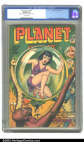 Golden Age (1938-1955):Science Fiction, Planet Comics #44 (Fiction House, 1946) CGC VG/FN 5.0 Off-whitepages. Trapped in giant bubbles, each girl waits her turn to...