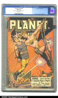 Golden Age (1938-1955):Science Fiction, Planet Comics #46 (Fiction House, 1947) CGC FN- 5.5 Off-whitepages. In an interesting turn of events, we find the female re...