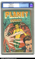 Golden Age (1938-1955):Science Fiction, Planet Comics #49 (Fiction House, 1947) CGC FN+ 6.5 Cream tooff-white pages. Auro, Lord of Jupiter takes on the Werewolves ...