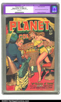 Golden Age (1938-1955):Science Fiction, Planet Comics #50 (Fiction House, 1947) CGC Apparent FN+ 6.5 Slight(A) Off-white pages. The Things of Xeres crash Auro's pa...