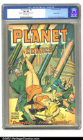 Golden Age (1938-1955):Science Fiction, Planet Comics #53 (Fiction House, 1948) CGC VF+ 8.5 Off-whitepages. Here is a great bondage cover featuring our heroine bei...