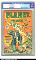 Golden Age (1938-1955):Science Fiction, Planet Comics #54 (Fiction House, 1948) CGC FN- 5.5 Cream tooff-white pages. Mysta of the Moon prepares to take the head of...