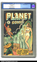 Golden Age (1938-1955):Science Fiction, Planet Comics #56 (Fiction House, 1948) CGC VF- 7.5 Cream tooff-white pages. Our hero must save Mysta before she's transfor...