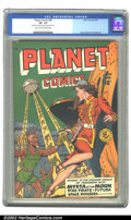 Golden Age (1938-1955):Science Fiction, Planet Comics #59 (Fiction House, 1949) CGC VF- 7.5 Light tan tooff-white pages. Let us voyage to the wonder-world of tomor...